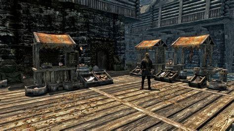 mod game market riften fish market at skyrim nexus mods and community