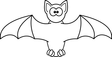 187 cartoon bat black white line studiofibonacci coloring