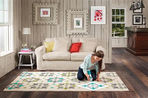 create your own patterned rug with vecco diy rug decor