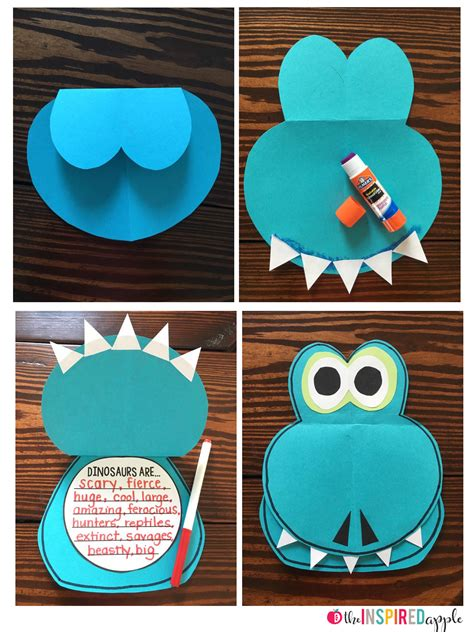 and crafts for free dinosaur craft the inspired apple