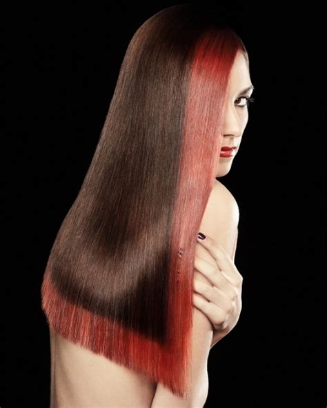 long hairstyles red highlights 30 groovy highlights for dark brown hair creativefan
