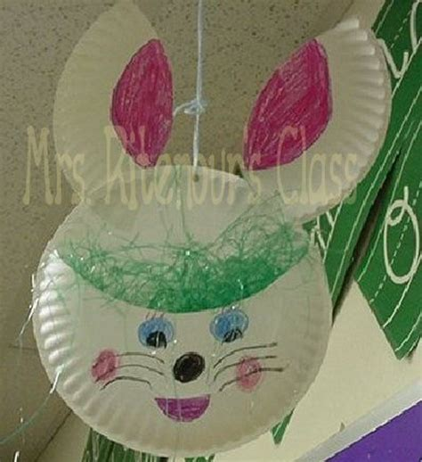 Easter Bunny Paper Plate Craft - tips o mania easter day crafts at tips o mania