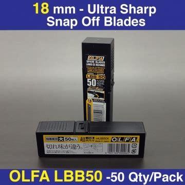 Olfa Lbb 10b Ultra Sharp Heavy Duty Blade 1 olfa lbb 50 ultra sharp heavy duty blades pack of 50 rt media solutions