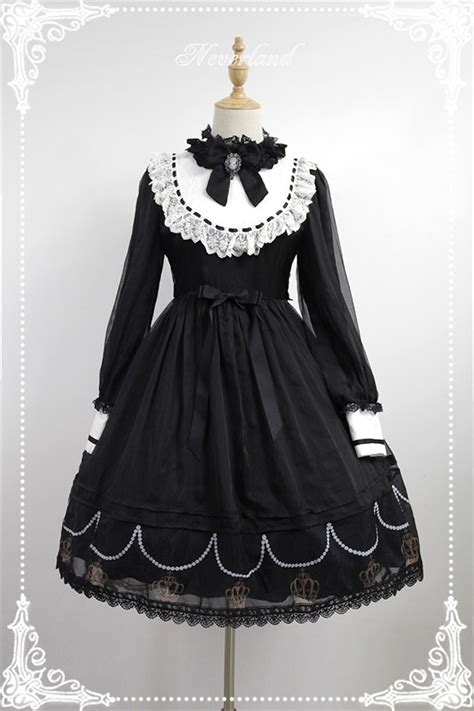 Loly Dress black requiem chiffon tailored sleeves op