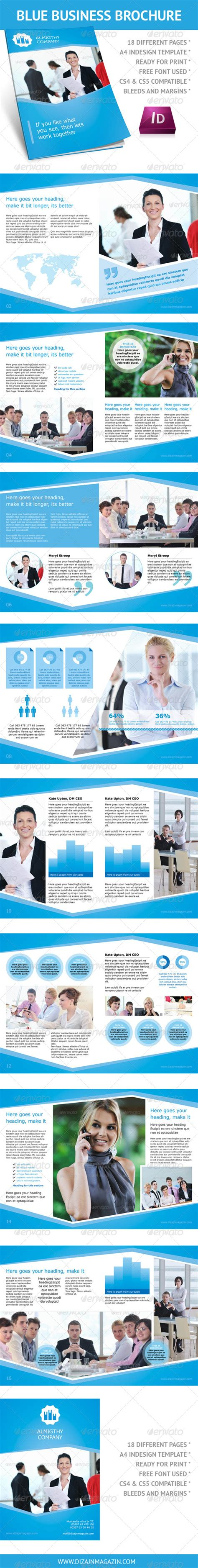 template indesign brochure a4 clean blue business brochure a4 indesign template