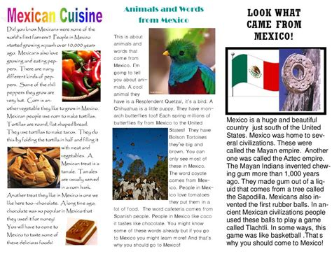 Mexico Brochure Template by Travel Brochure Travel Brochure Template Or