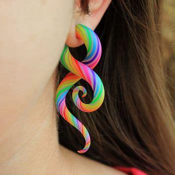 Aletha Dress Mininos technicolor plugs from closecustomjewelry on etsy momo