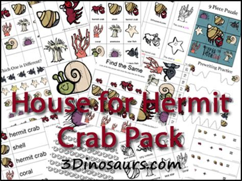 A Home For Hermit Crab Printables