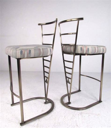 modern bar stools sale pair of contemporary modern bar stools by dia for sale at