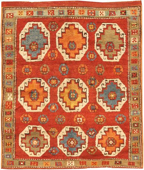 Rug Identification by Antique Konya Turkish Rug 3091 Detail Large View By