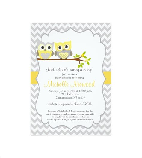 baby shower invitation card template 32 baby shower card designs templates word pdf psd