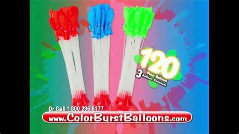 color water balloons balloon bonanza color burst tv commercial colored water