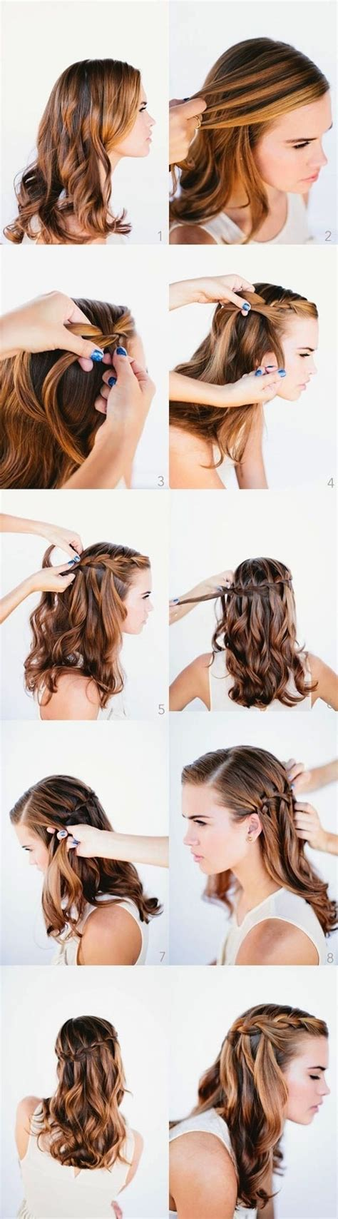 hairstyles prom tutorial 10 best waterfall braids hairstyle ideas for long hair
