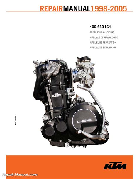 motor manuals 1998 2005 ktm 400 660 lc4 paper engine repair manual