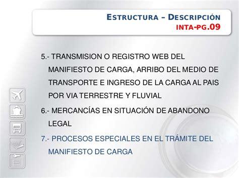 consulta de manifiestos de ingreso sunat manifiesto de carga