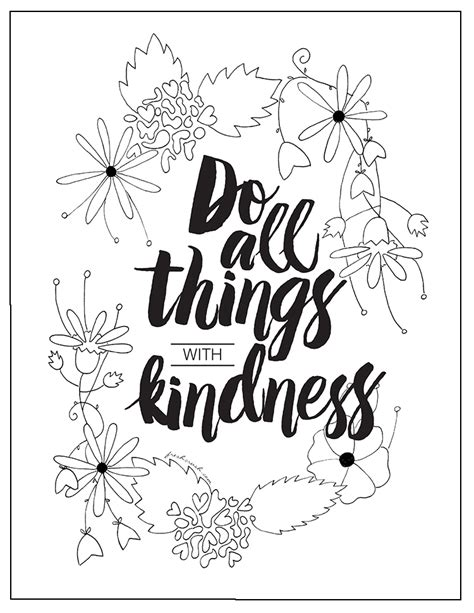 coloring pages kindness showing kindness to others coloring page coloring pages