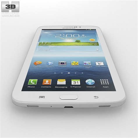 Samsung Tab 3 Second 7 Inch samsung galaxy tab 3g 3 7 inch white 3d model cgstudio