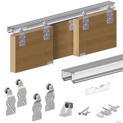 Patio Door Runners Horus Top Hung Sliding Door System Wardrobe Track Kit