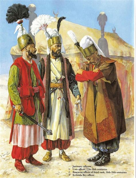 elite corps of ottoman turks janissary clothing from the 17th 18th centuries the