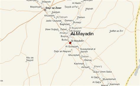 deir ez zor map al mayadin location guide