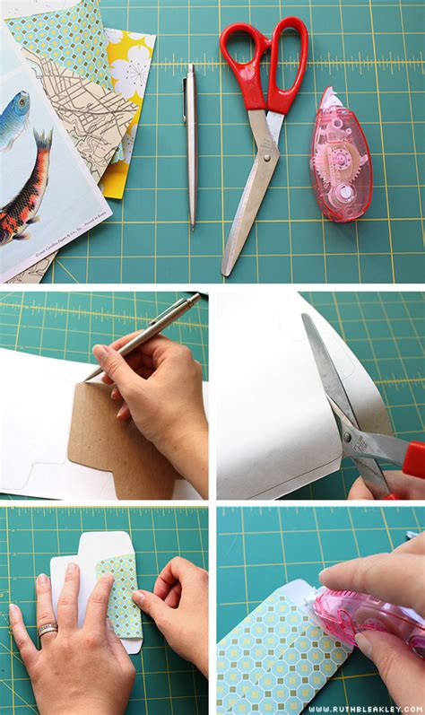 How To Make An Envelope Out Of Wrapping Paper - tutorial easy tiny envelopes poppytalk