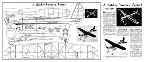 rubber powered pursuit  plans aerofred