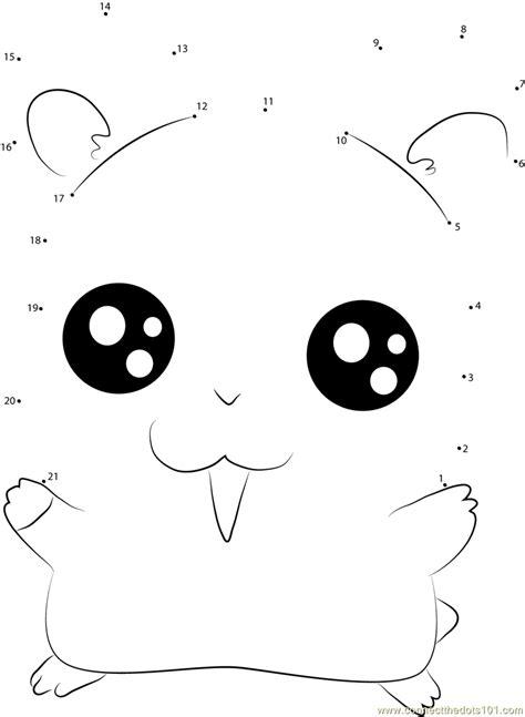 largest printable dot to dot big eye hamtaro dot to dot printable worksheet connect