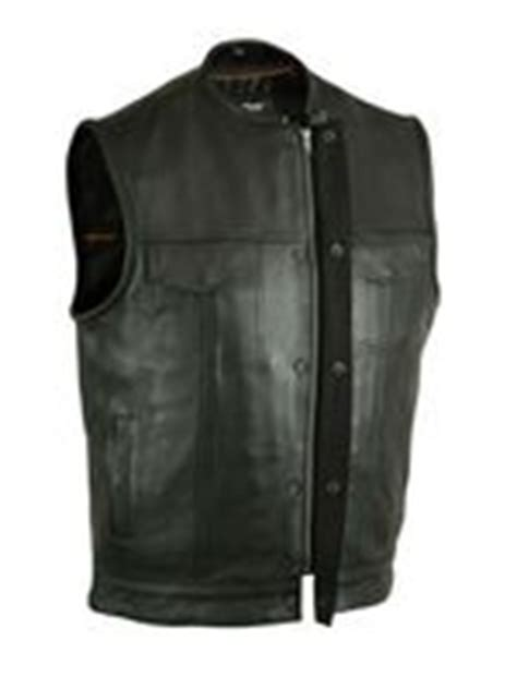 Premium Vest Zipper Harley Davidson 3 top leather motorcycle vest for anarchy zipper
