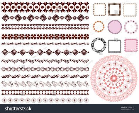 set of arabesque pattern frame border set of arabesque pattern frame border stock vector