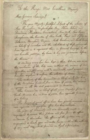 up letter colonies america colonial grievances letter to king george iii