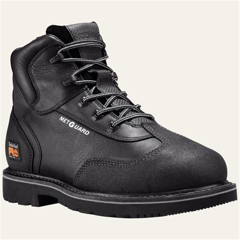 black work boots for timberland pro boots mens met guard 6 quot steel toe black