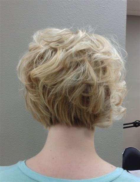 hair stacked straight front curly back the gallery for gt curly inverted bob back view