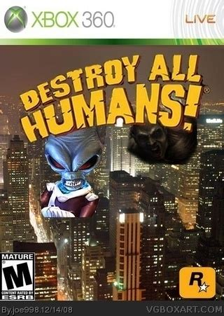 destroy all humans xbox 360 box art cover by joe998