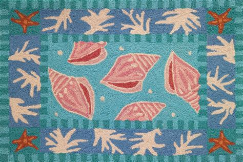 coral accent rug sanibel shells and coral accent rug