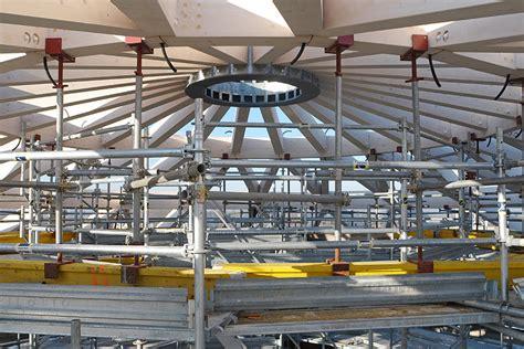 cupola geodetica legno puntellazione cupola geodetica a travi lamellari in legno