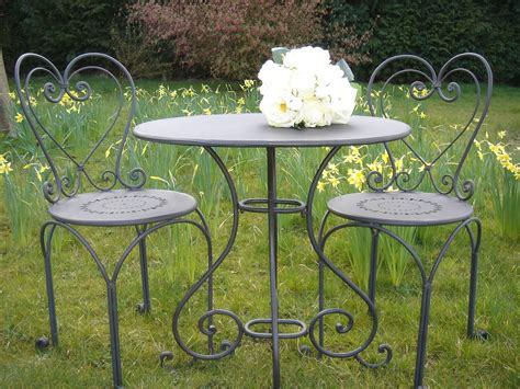 Black heart back bistro set   Bliss and Bloom Ltd