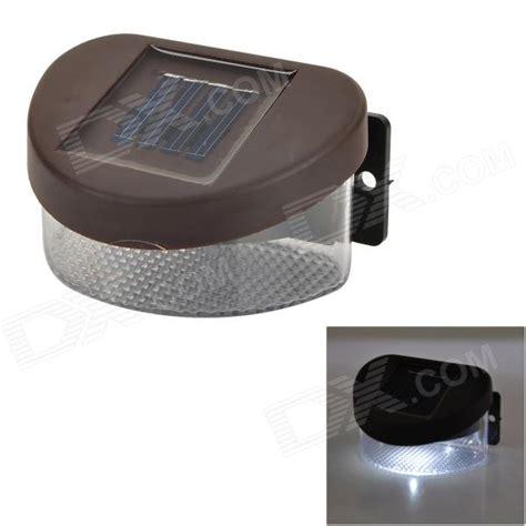 Motion Sensor Led Light Outdoor - 0 8w 7000k 1 led wit mini zonne energie omheining wall tuin lamp donkerbruin transparant