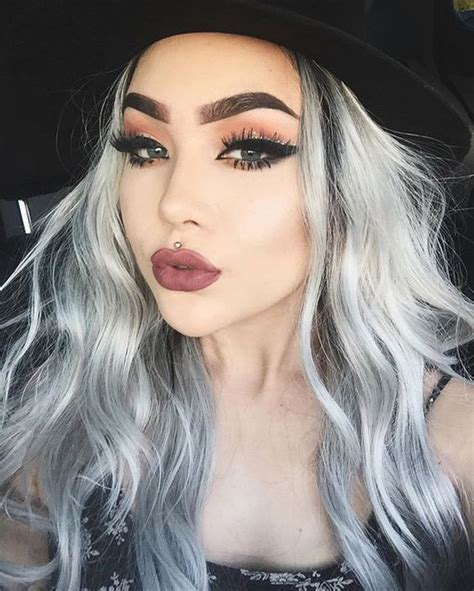 how to bring out gray in hair silver grey hair hair and make up on pinterest