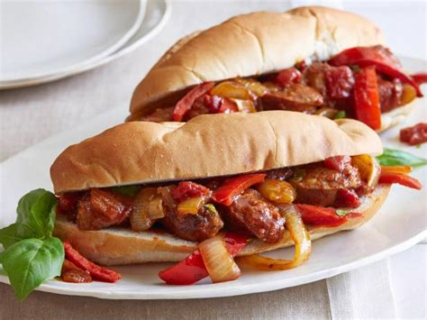 Giadas Got A Bun In The Oven by Sausage Peppers And Onions Recipe Giada De Laurentiis