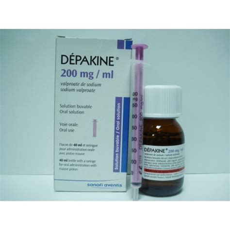 Depakine 200 Mg 40 Tablets Depakine 200 Mg Ml Solution 40 Ml Chronic