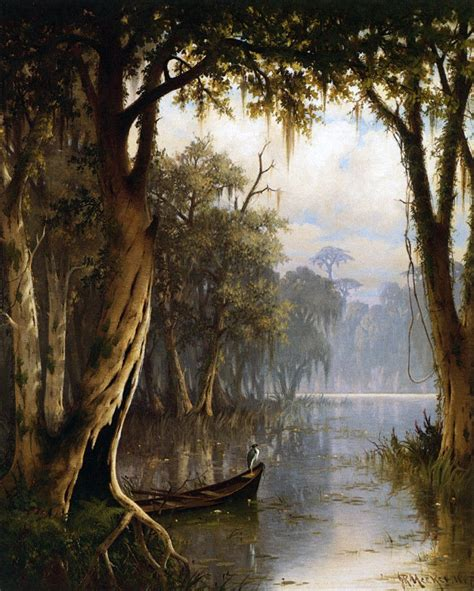 louisiana bayou by joseph meeker giclee canvas print repro