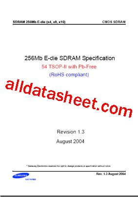 zc transistor datasheet k4s561632e uc75 데이터시트 pdf samsung semiconductor