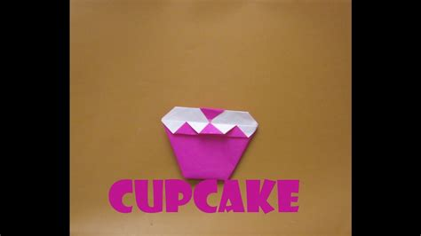 How To Make An Origami Cupcake - origami cupcake tutorial how to make an origami cupcake