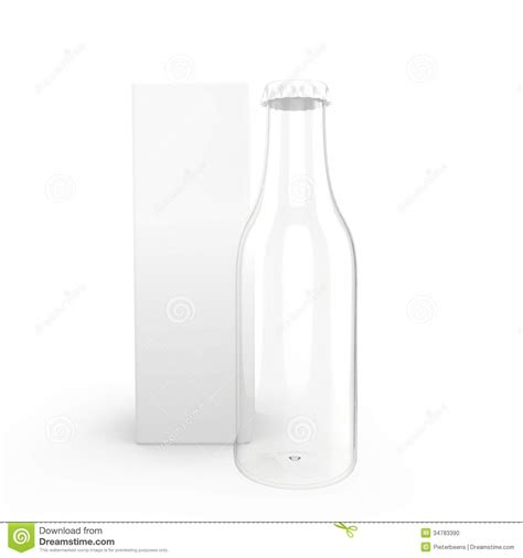 templates flask glass bottle with package stock photo image 34783390