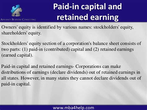 Retain Earing Mba by Accounting Principles 2b Corporations