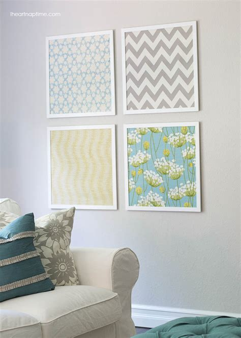 wall pattern material diy fabric wall art ideas and inspirations