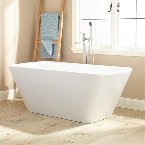 freestanding modern bathtubs hogan acrylic freestanding tub modern bathtubs