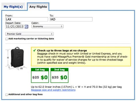 United Airlines Baggage Prices | united airlines reduces free checked baggage allowance for