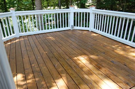 patio porch cleaning and staining decks