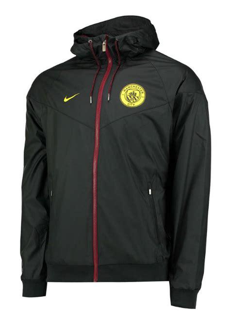 Jaket Black Ink Manchaster City manchester city nike jacket windrunner 2016 17